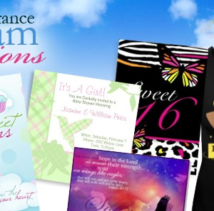 Dream Creations: Youthful Event Stationery - Sweet 16 Party Invitations